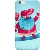 Snowboarding Christmas iPhone Case/Skin