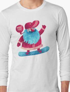 Snowboarding Christmas Long Sleeve T-Shirt