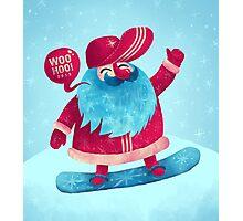 Snowboarding Christmas Photographic Print