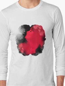 Psychedelic Ink Red Girl Long Sleeve T-Shirt
