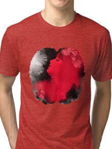 Psychedelic Ink Red Girl Tri-blend T-Shirt