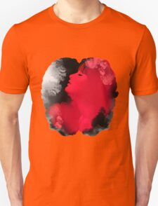 Psychedelic Ink Red Girl Unisex T-Shirt