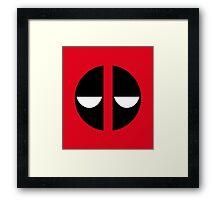 Bored Deadpool Icon No Border Framed Print