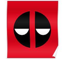 Bored Deadpool Icon No Border Poster
