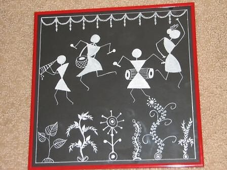 Celebration-Folk art painting from India by ampar81