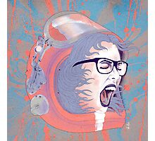 Space Astronaut Girl Photographic Print