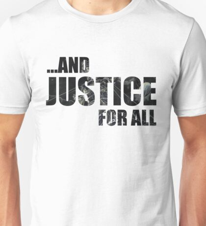 Justice Dark Text Unisex T-Shirt