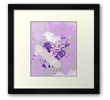 Skate Girl Purple Fly Framed Print