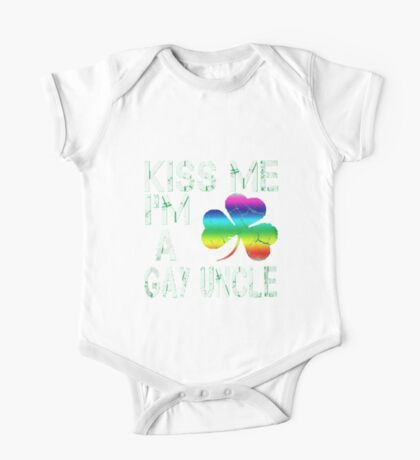 Kiss Me: I'm A Gay Uncle One Piece - Short Sleeve