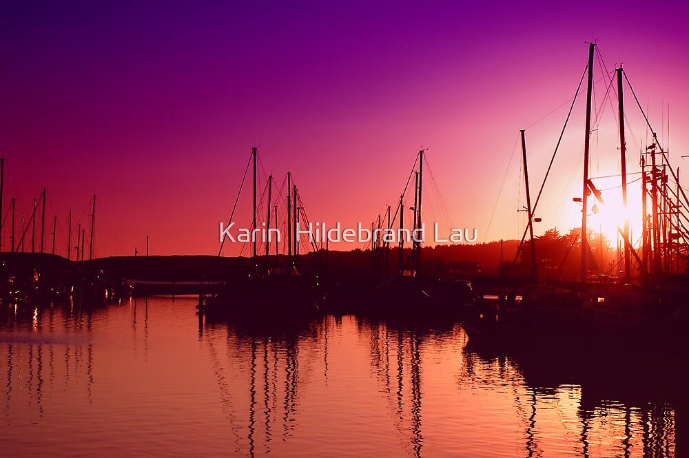 Marina Sunset by Karin  Hildebrand Lau