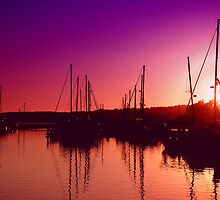 Marina Sunset by Karin  Hildebrand Lau