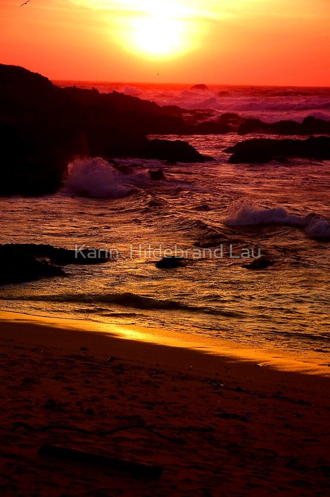Pacific Sunset by Karin  Hildebrand Lau
