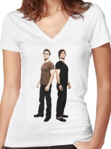 Salvatore Brothers Women's Fitted V-Neck T-Shirt