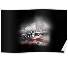 Plane of patriotism Poster