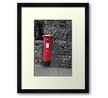 Post box in wall darley dale peak district Framed Print