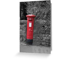 Post box in wall darley dale peak district Greeting Card