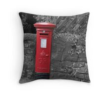 Post box in wall darley dale peak district Throw Pillow