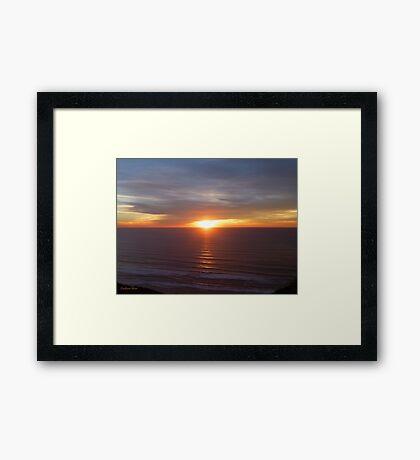San Francisco Sunset 1416 Framed Print