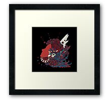 A girl with feathers in her hair Framed Print