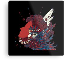 A girl with feathers in her hair Metal Print