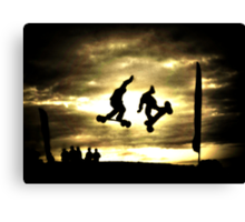 The Thrill of Mountain Boarding Canvas Print