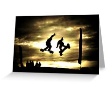 The Thrill of Mountain Boarding Greeting Card