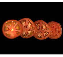 Whole sliced tomato Photographic Print