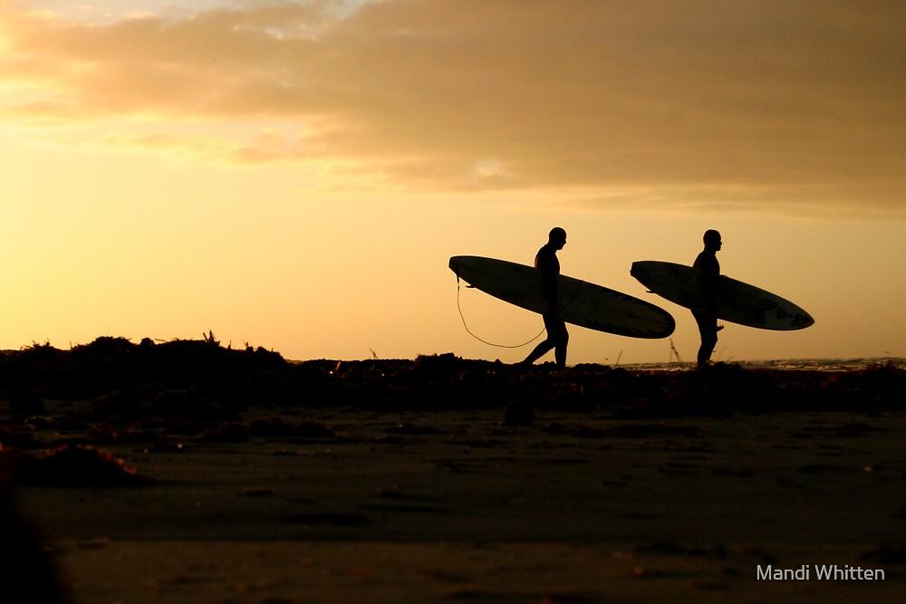 Sunrise Surfers by Mandi Whitten