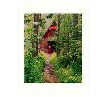 Little Church in the Woods Art Print