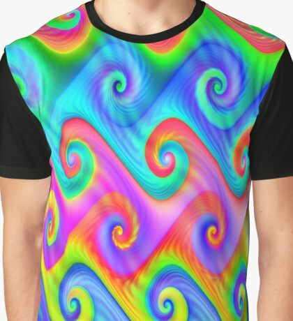 Colorful Algorithmic Pattern P08 - Amazing Spirals Graphic T-Shirt