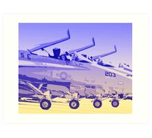 F18 Hornet 4 ship Art Print