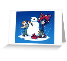 Do you wanna build a Snow max? Greeting Card