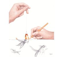 Goldfishing Photographic Print