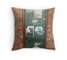political door Throw Pillow