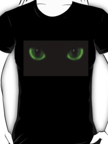 Two green cat eyes T-Shirt