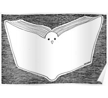 Book and Pigeon Poster