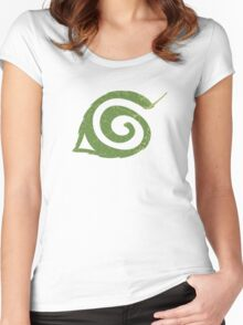 Spiral Leaf Women's Fitted Scoop T-Shirt