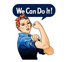 Rosie the riveter Photographic Print
