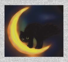 Black cat and moon One Piece - Short Sleeve