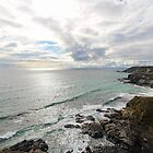 Sea View at Poldhu Point  by Marilyn Harris