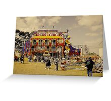 Circus Attraction Greeting Card