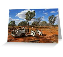 Australian outback near Cobar Greeting Card