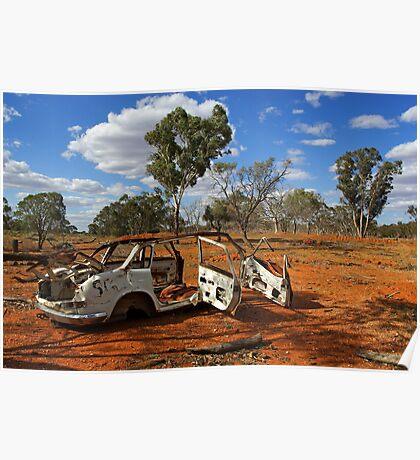 Australian outback near Cobar Poster