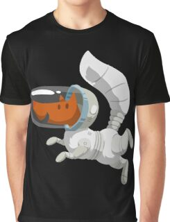 Cute Fox Wandering in Space Graphic T-Shirt