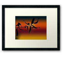 Curly Sunset Framed Print