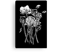 Common British opium poppies Canvas Print