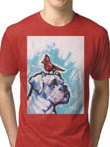 Boxer Dog Bright colorful pop dog art Tri-blend T-Shirt