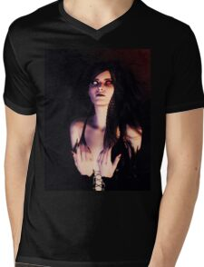 Dark Angel in the Forest Mens V-Neck T-Shirt