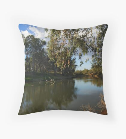 Darling River at Bourke Throw Pillow