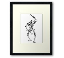 Skeleton drummer Framed Print